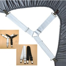 Grippers Suspender Cord Hook Loop Clasps Adjustable Elastic Mattress Cover Bed Sheet Fasteners Straps
