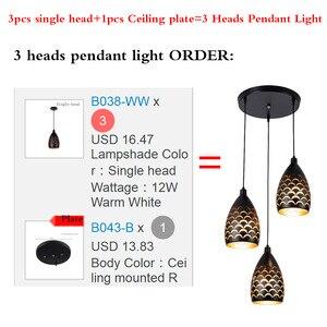 Image 4 - Kapalı Modern LED tavan işıkları basit restoran oturma odası yatak odası aydınlatması fikstür aksesuar pullu içi boş demir tavan lambası