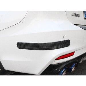 Image 3 - Karbon Fiber kauçuk kalıplama şerit yumuşak siyah Trim tampon şeritler DIY kapı eşiği koruyucu kenar koruyucu araba Styling araba çıkartmalar 1M