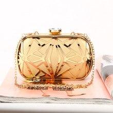 Для женщин металлический каркас вечерняя сумочка из искусственной кожи Metral» с принтом геометрических фигур и Haspa ближе сцепления кошелек модные сумки из натуральной кожи для вечерние леди