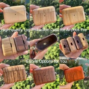 Image 1 - 6 色優れたログ高品質 Airpods プロ保護カバー Airpods3 ヘッドセット木製ため Airpods プロ 3 光