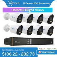 Movols 2MP pełny etat kolorowy system kamer cctv zewnętrzny wodoodporny zestaw nadzoru bezpieczeństwa 8CH DVR system monitoringu wizyjnego