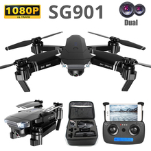 SG901 Camera Drone 4K Dual Camera smart follow RC Quadrocopter Foldable Arm WIFI FPV Professional Dron Selfie Toy For Kid