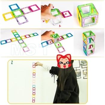 Mini 200PCS-46PCS Magnetic Designer Constructor Toy For Boys Girls Magnetic Building Blocks Magnet Educational Toys For Children 2