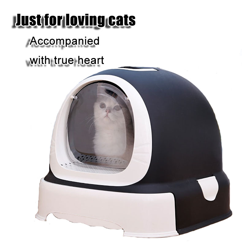 Pet Portable Cat Litter Bowl Toilet Bedpan Excrement Training Sand Box with Scoop for Pets Kitty Anti Splash Cats Tray Kitten Cl