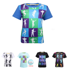 2019 Boys T-Shirts Cartoon Print Battle Royale Tops Kids Cotton Clothes Floss Like A Boss tops 8336