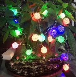 Светильник 20 светодиодный Сказочный светильник s на свадьбу День рождения теплый белый для вечерние украшения Рождественский светильник s