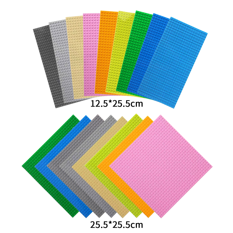 16*32 Dots Small Brick Classic Base Plates For Legoings Dimensions Building Blocks Construction Baseplates DIY Toys For Children