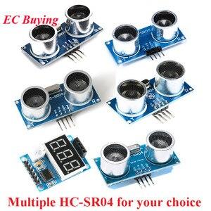 HC-SR04 датчик расстояния Модуль ультразвуковой волновой детектор HCSR04 HC SR04 HC-SR04 + CS100A кронштейн для тестовой платы для Arduino