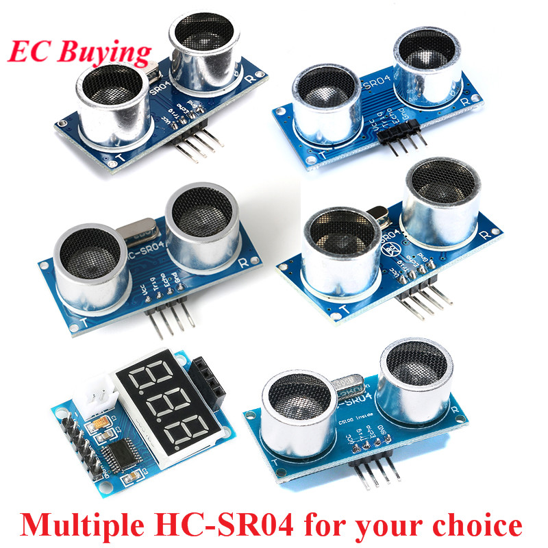 HC-SR04 Distance Ranging Sensor Module Ultrasonic Wave Detector HCSR04 HC SR04 HC-SR04+ CS100A Test Board Bracket for Arduino image
