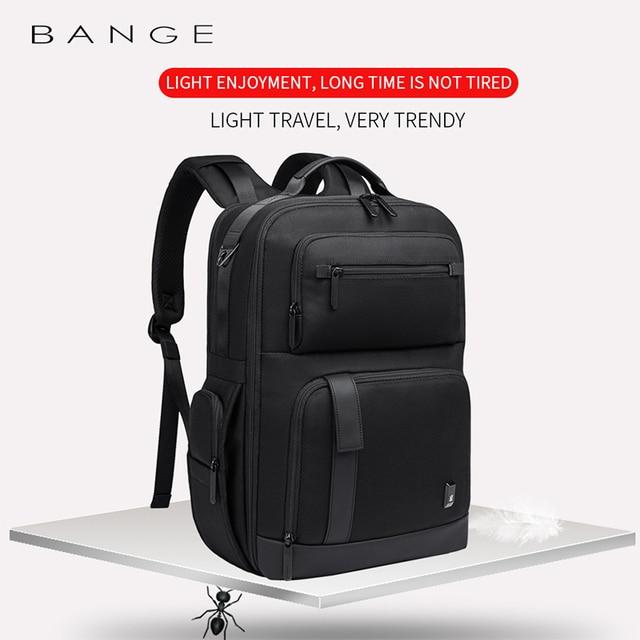 BANGE Men Business Backpack High capacity Waterproof Travel Backpack 15.6'Laptop Backpack School Bag Office Men Backpack 4
