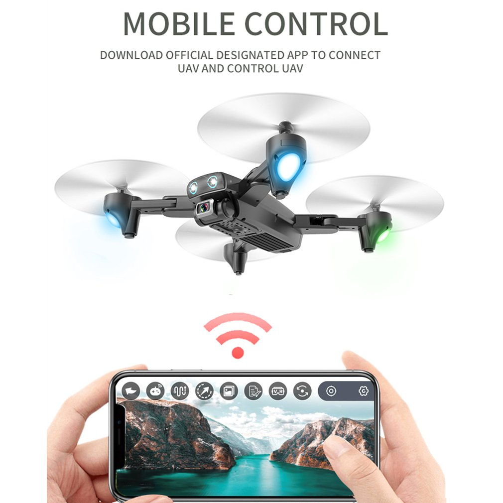 Drone Foldable Aircraft Battery Camera Rc-Four-Axis S167 Wide-Angle GPS WIFI FPV HD