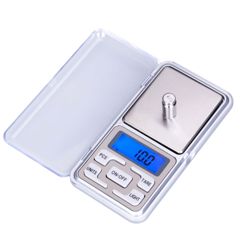 Mini Digital Scale 100/200/500g 0.01/0.1g High Accuracy Backlight Electric Pocket For Jewelry Gram Weight For Kitchen