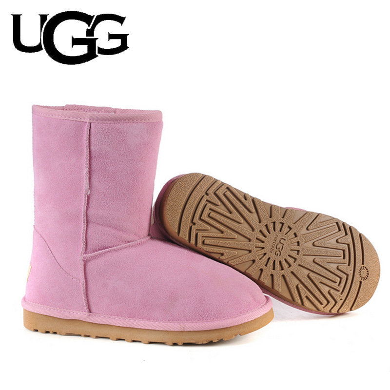 Original UGG Boots 5825 Classic 3/4 Mid Short Boot Ladies With Button Ugged Women Boots Snow Boots Australia Boots Fur Wool