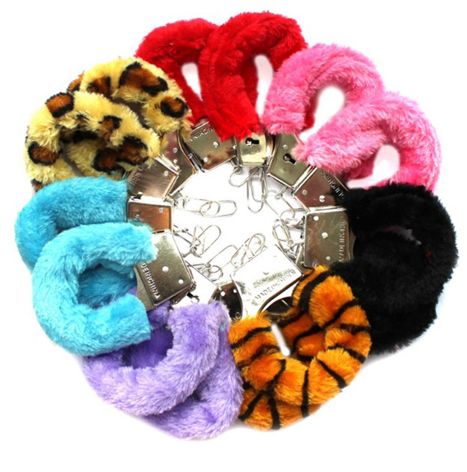 Furry Fuzzy Soft Metal Sexy Exotic Accessories Set Handcuffs Adult Night Party Game Novelty Gift Sex Products