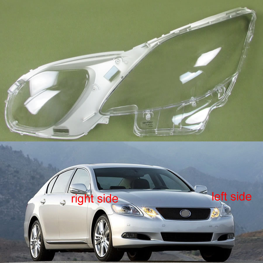 For <font><b>Lexus</b></font> GS300 GS430 <font><b>GS450h</b></font> GS460 <font><b>2008</b></font> 2009 2010 2011 Transparent Lampshade Lamp Shade Front Headlight Shell Lampshade Cover image