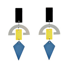 NJ Creative Geometric Shape Drop Earrings 2019 Modern Womens Hanging Exaggerated Party For Girls Gifts