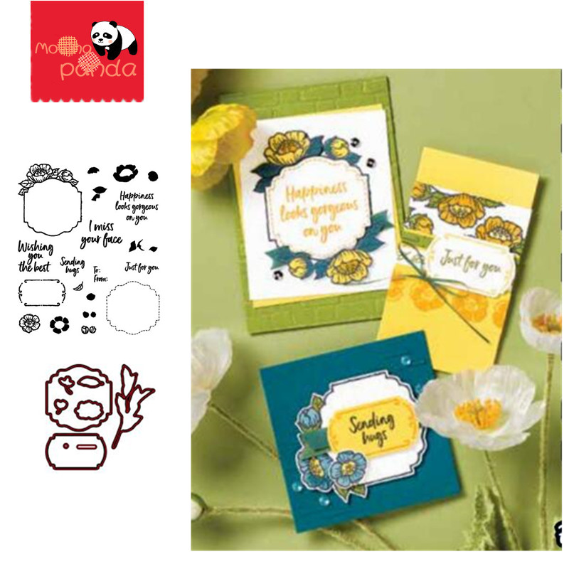 MP096 TAGS IN BLOOM Metal Cutting Dies And Stamps For DIY Scrapbooking/photo Album Decorative Embossing DIY Paper Cards