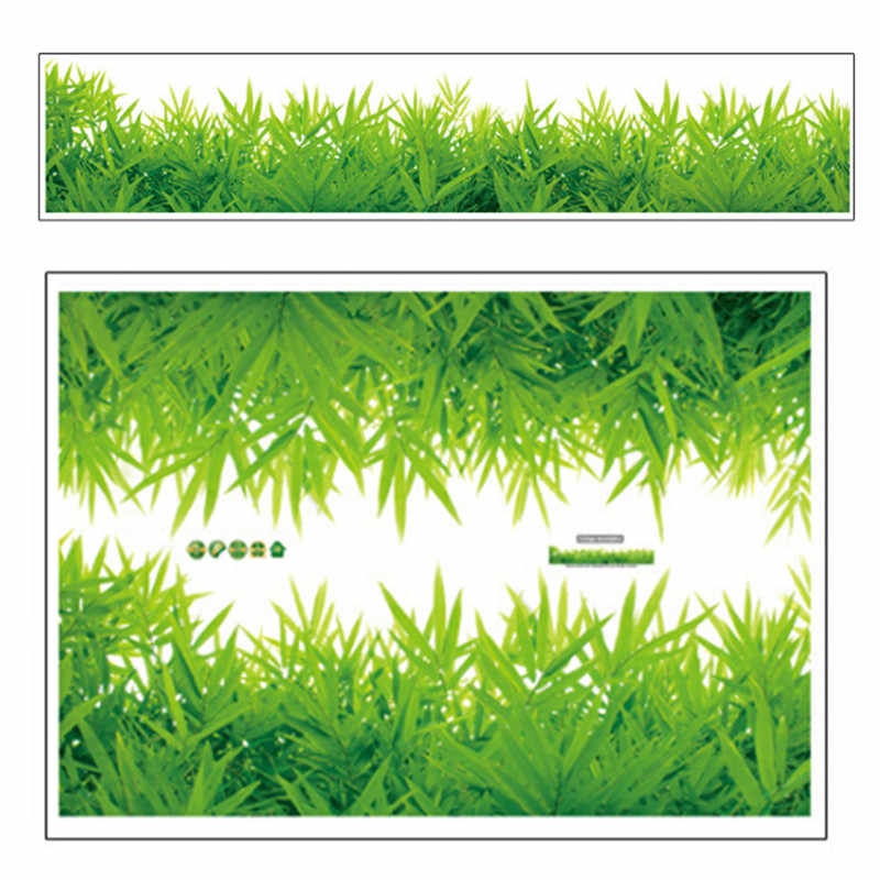 3D الطازجة الأخضر العشب اللوح PVC ملصقات جدار التفاف الاطفال غرفة نوم الحمام غرفة المعيشة المطبخ الحضانة شرفة المنزل ديكور