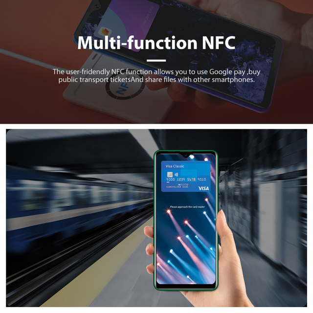 Blackview A80 Plus Smartphone Quad Rear Camera Mobile Phone 4680mAh 6.49'' HD+ 4GB+64GB Octa Core Android 10 NFC 4G Cellphone 6