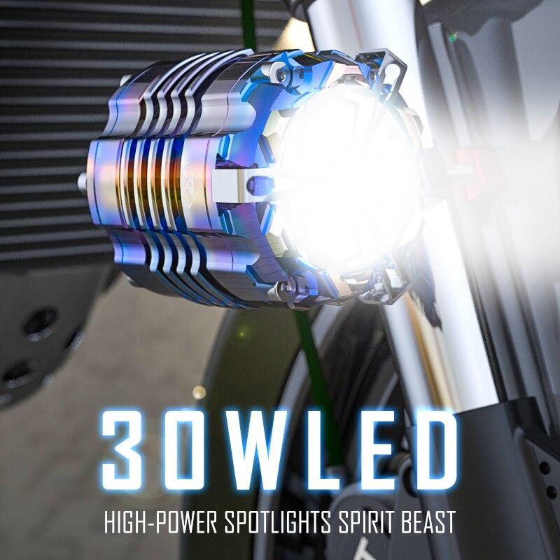 Аксессуары для освещения мотоцикла Benelli 24V 48V 60VLED подсветка прожекторы внедорожный вспомогательный стробоскоп для мотоцикла