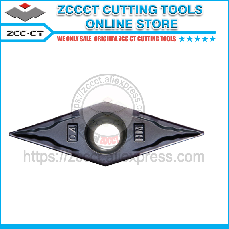 10pcs ZCCCT turning tool cutter VBMT160404-HM YBG202 <font><b>VBMT</b></font> <font><b>160404</b></font> VBMT331 ZCC cutting tools for steel and stainless steel image