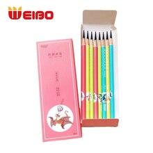 WEIBO 8 Pcs/Set Carbon Pencils Sketching Charcoal Drawing Pencil Soft Medium Hard Writing Supplies Office School Manga Draw