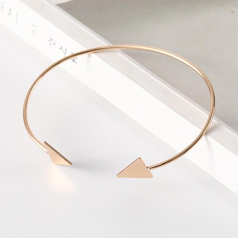 Drop-Shipping-Arrow-Open-Bracelets-Gold-Silver-Black-Triangle-Geometric-Bangle-Bracelets-for-Women-Simple-Korean (3)