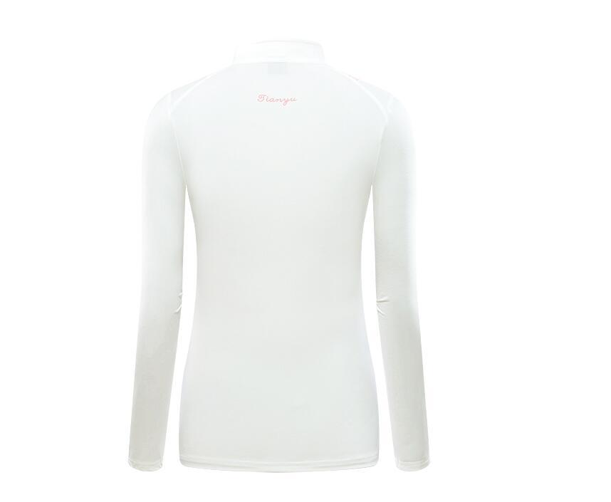 mulheres respirável quick-secagem-botão do colarinho de mangas
