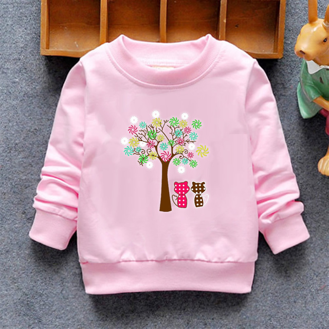 2020 Baby Girls Sweatshirts Winter Spring Autumn Blouses Children Hoodies 6 Cats Long Sleeves Sweater Kids T-shirt Jacket