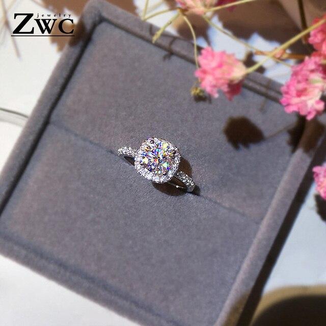 Zwc di Modo di Fidanzamento di Cristallo Artigli Disegno Caldo di Vendita Anelli per Le Donne Aaa Zircone Bianco Cubic Anelli Eleganti da Sposa Femminile Jewerly 4