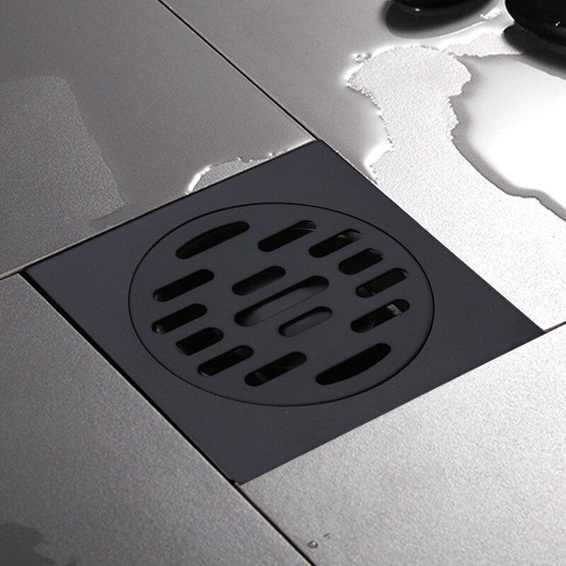 Desagüe de 10cm en color negro de LASO, desagüe para el suelo de la ducha cuadrado de acero inoxidable, canal de drenaje dorado para el baño, residuos de cocina Rejilla para escurrir fregadero de acero inoxidable para cocina, estante de cocina, vajilla DIY, estante de drenaje seco para cubiertos, de 2 capas estante de almacenamiento, organizador de la despensa