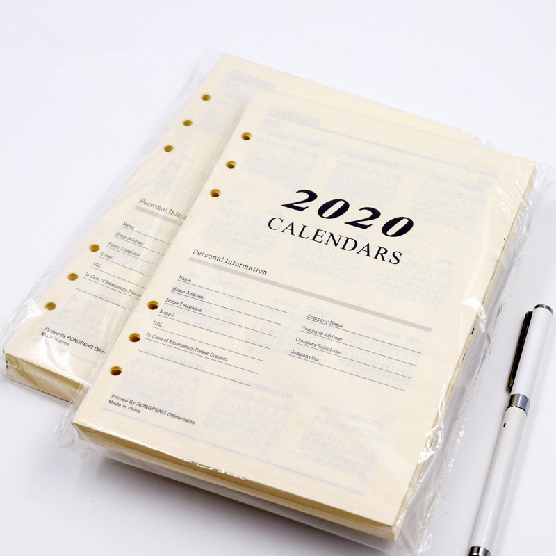 Harphia 2020 Schedule Inner Paper 6 Holes Binder Notebook Refill 180 Sheets For Agenda Planner