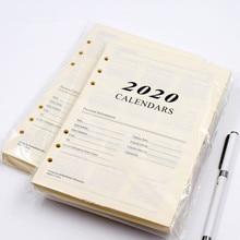 Harphia 2020 et 2021 calendrier papier intérieur 6 trous reliure cahier recharge 180 feuilles pour Agenda planificateur