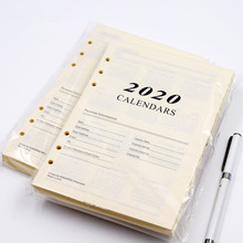 Harphia 2020 ve 2021 programı iç kağıt 6 delik ciltli defter dolum için 180 sayfa gündem planlayıcısı