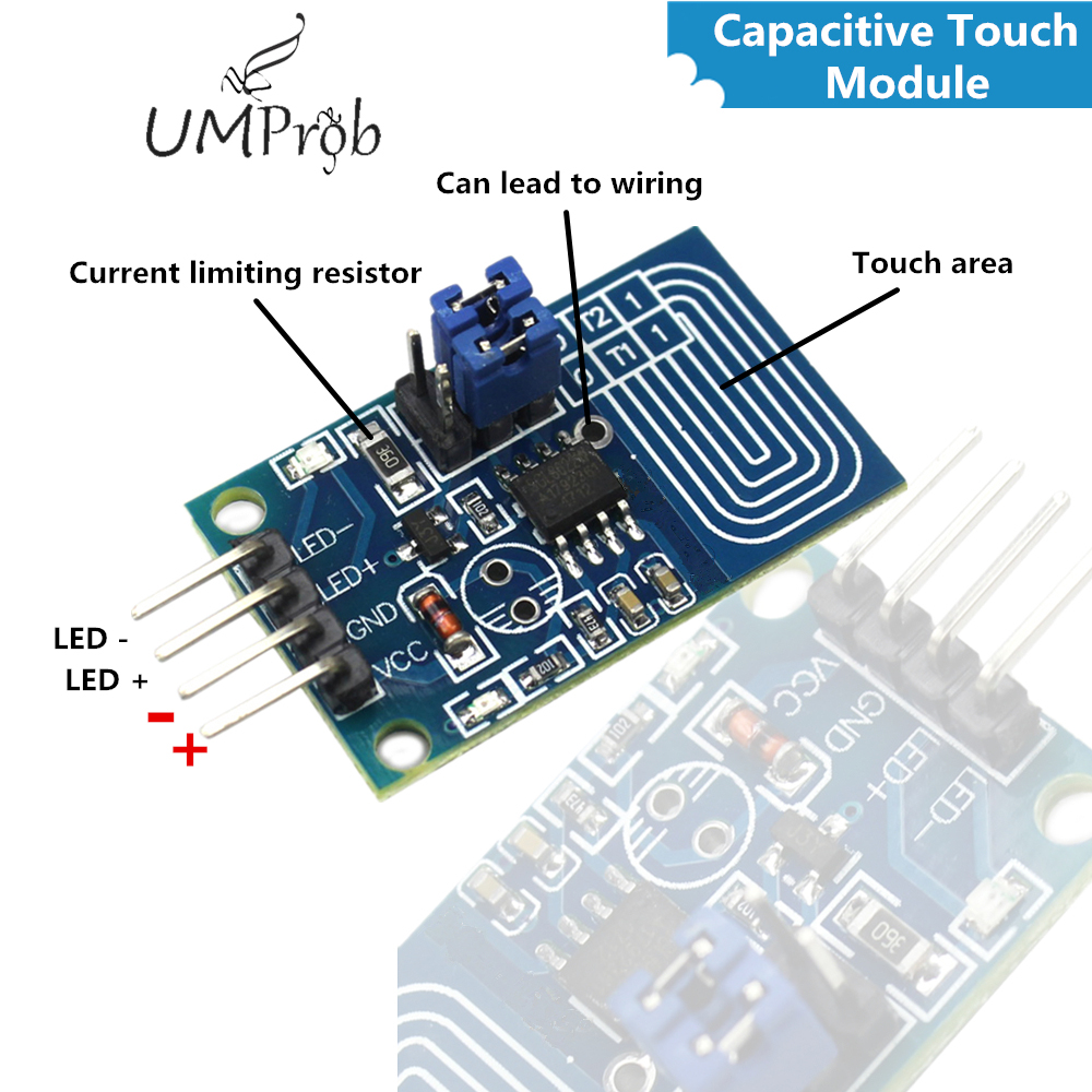 5pc Capacitive Touch Dimmer Stepless Dimming PWM Control Panel LED Switch Module