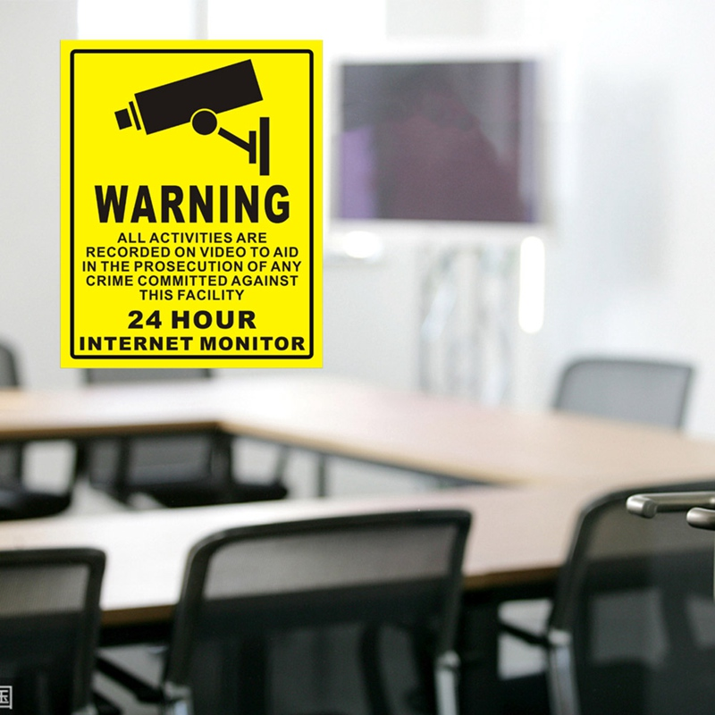 Sunscreen PVC Home Video Surveillance Security Camera Alarm Sticker Warning Decal Signs