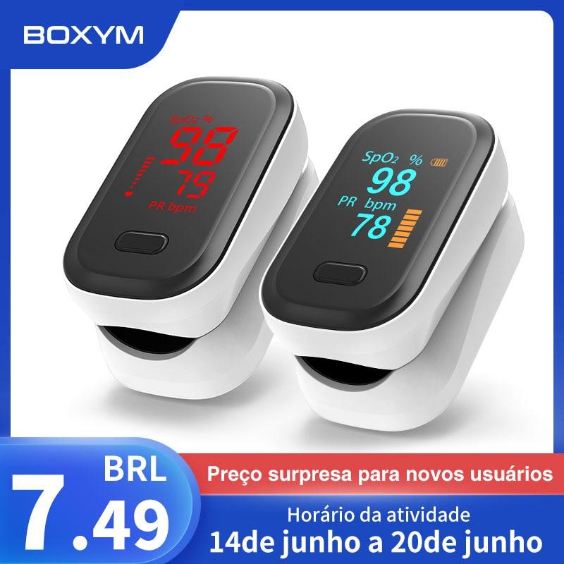 BOXYM медицинский портативный Пальчиковый Пульсоксиметр измеритель насыщения крови кислородом пульса OLED Oximetro de dedo Saturometro Monitor