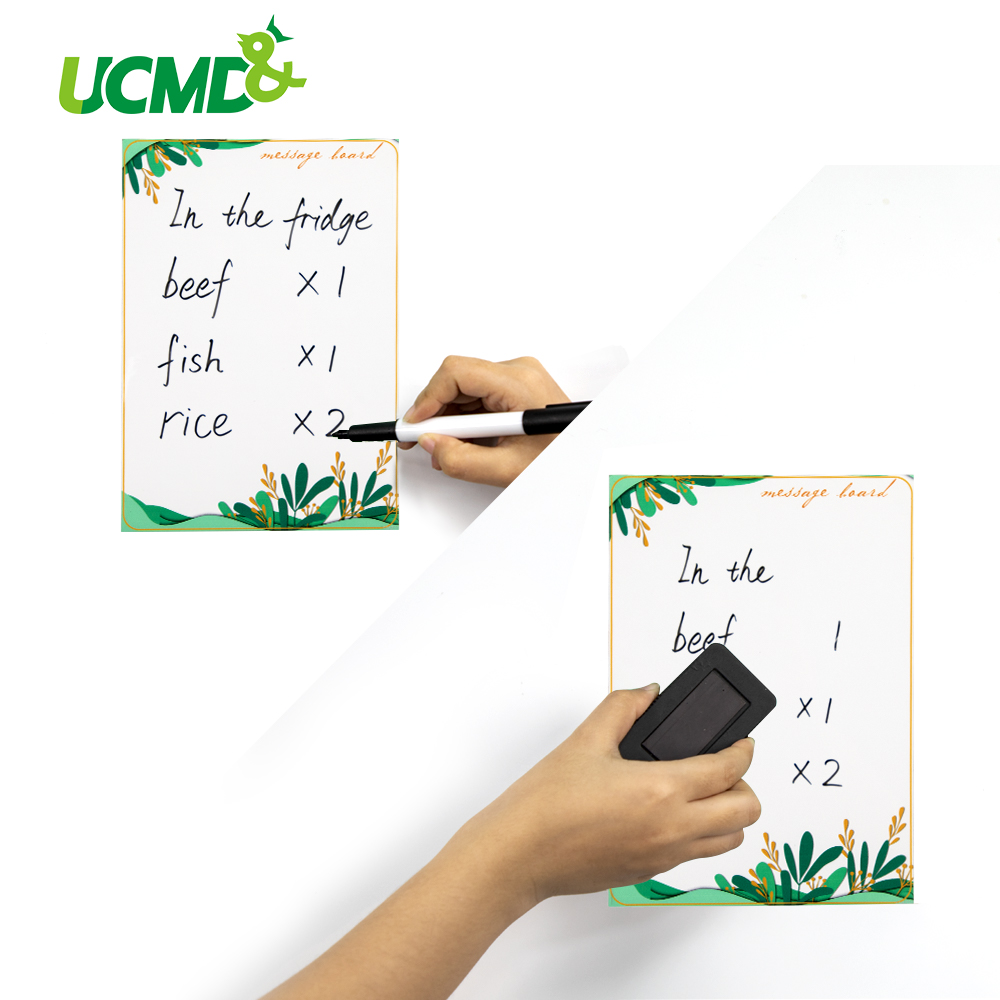 Eraseable Practice Writing Painting WhiteBoard Magnetic Refrigerator Sticker Message Board Office Planner Sheet With Marker Pen