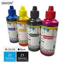 DMYON принтер чернила заправка бутылка чернил совместимый для Hp 21 22 принтер Deskjet F2180 F2200 F2280 F4180 F300 F380 380 D2300 принтер