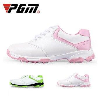 PGM Golf Shoes Anti-slip Breathable Women High Upper Inside Heightening Shoe Rotating Buckle Golf Sneaker Women Waterproof Shoes