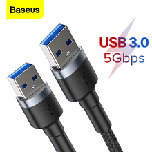 Baseus USB to USB Extension Cable Type A Male to Male Extender USB 3.0 Cable For Radiator Hard Drive Disk Wacom USB3.0 Data Cord