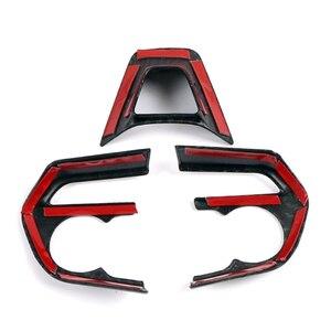Image 4 - JEAZEA 3 Sợi Carbon ABS Bọc Vô Lăng Khung Viền Trang Trí Phù Hợp Cho Xe Toyota RAV4 2019 2020 LHD Xe Ô Tô phụ kiện