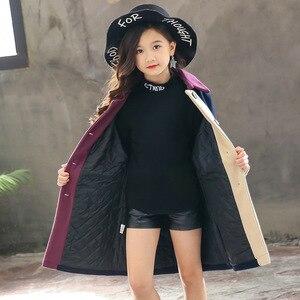 Image 4 - Moda trendi kız ceket genç enerji çocuklar ceket canlı sevimli kız ceket pamuk turn aşağı yaka Polyester tam kız