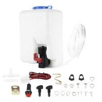 Car Windshield Glass Wiper Systems Universal Washer Tank Water Pump Bottle Reservoir Installation Kit
