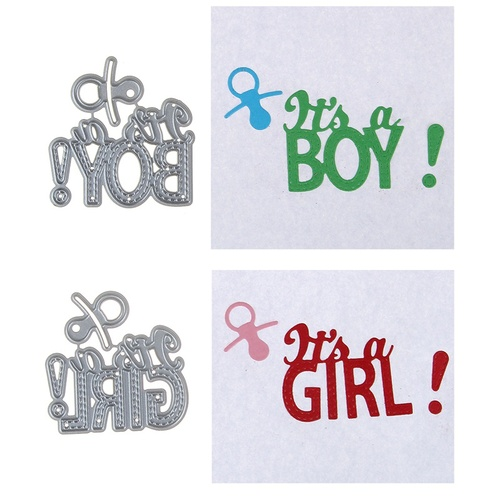 DIY Baby Girl Boy Metal Steel Cutting Dies Embossing Craft Dies 3D Scrapbooking Stamp Handmade Card Making Photo Decoration