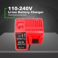 Replacement Charger 110 240V Li ion Battery Charger Milwaukee M12 M18C 48 11 1815 48 11 1828 48 11 2401 48 11 2402 EU/UK/US/AU