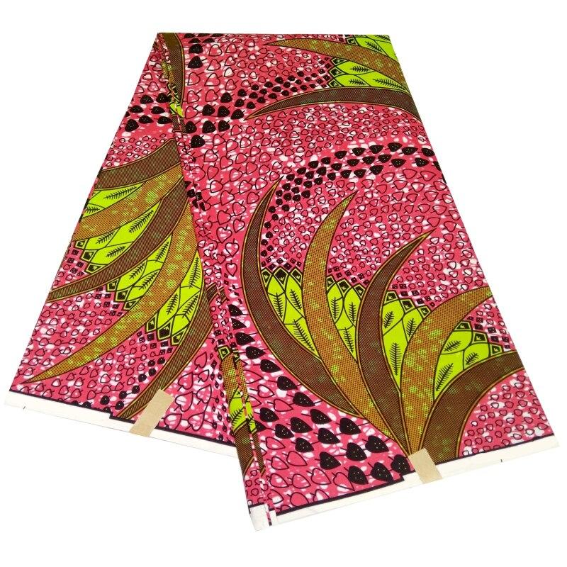 Tecido de Poliéster Real para o Vestido Quintal Ancara Batik Africano Cera Festa Telas Retalhos Algodon 6