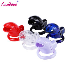 Chaste bird male silicone chastity device cock cage with 3 rings size bio-sources brass lock standard/short cage sex toys for men