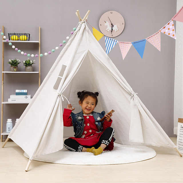 Nordic Style Wooden Teepee Children's Tent  3